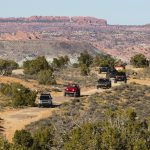 On the trail at the 2016 Moab Easter Jeep® Safari. From front t