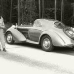 "Highlight: A replica of the ""Manuela"", a Horch 853 Coupé. In 1937, Auto Union had this luxury car made for Bernd Rosemeyer, its most famous racing car driver."